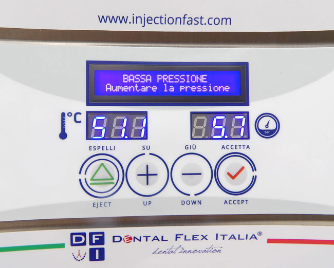 Injection Fast® - Allarme Pressione